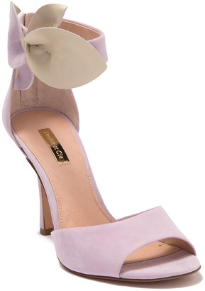 Louise et Cie Kenbeck Leather Bow Ankle Strap Sandal