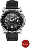 Diesel On DZT1000 Black Dial Black Silicone Strap Smart Watch