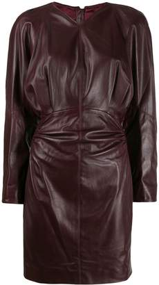 Isabel Marant leather ruched dress