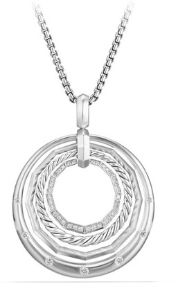 David Yurman Stax Medium Pendant Necklace with Diamonds