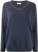 Brunello Cucinelli bead-embellished jumper
