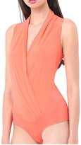 May&Maya Women's Wrap Front Sleeveless Body Bodysuit (M, )