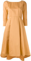 Jil Sander Navy flared dress - women - Cotton/Linen/Flax/Acetate/Cupro - 36