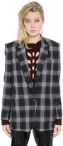 Isabel Marant Checked Felted Wool Jacket