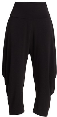Issey Miyake Draped Jersey Capri Pants