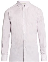 Brunello Cucinelli Striped Button-down Collar Cotton-poplin Shirt