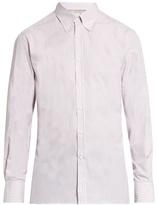 Brunello Cucinelli Striped button-down collar cotton-poplin shirt
