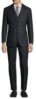 English Laundry Wool Speckled Double Breasted Three Piece Suit