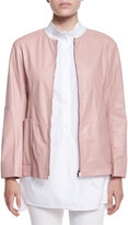 Jil Sander Reversible Nylon/Leather Jacket