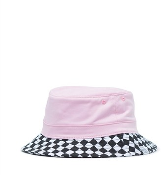 Herschel Lake Youth Bucket Hat Large/Extra Large Pink Lady Checker
