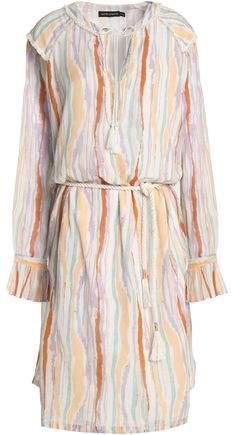 Antik Batik Striped Cotton-Gauze Dress