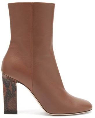 Wandler Carly Block-heel Leather Boots - Brown