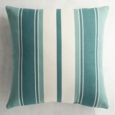 Pier 1 Imports Woven Striped Turquoise Pillow