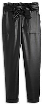 Aqua Girls' Paperbag Waist Pants, Big Kid - 100% Exclusive
