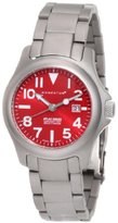 Momentum Women's 1M-SP01R0 Atlas Red Dial Titanium Bracelet Watch