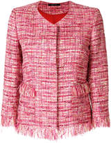 Tagliatore fringed tweed jacket