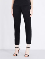 St. John Tapered satin trousers