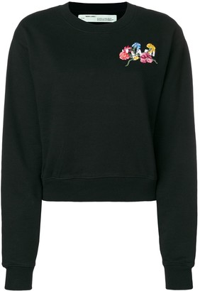 Off-White embroidered chest patch sweatshirt