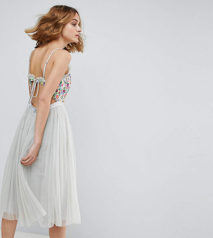 Needle & Thread Cami Strap Midi Dress with Open Back