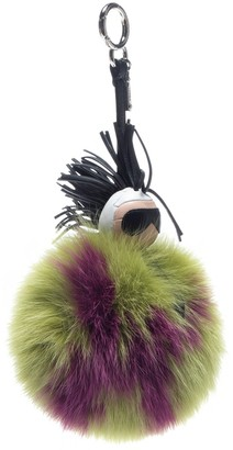 Fendi Pompon Karl Green Fox Bag charms