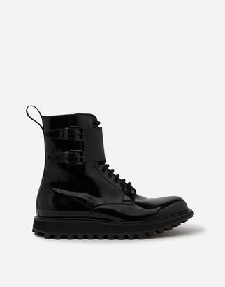 Dolce & Gabbana Polished Calfskin Boots With Extra Lightweight Bottom