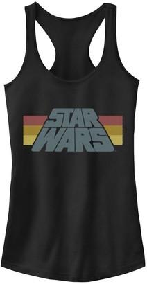 Licensed Character Juniors' Star Wars Classic Stripe Logo Tank Top