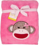 Baby Starters Baby Girl Sock Monkey Coral Plush Boa Blanket by Pink - Not Applicable