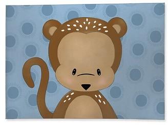 Kavka Monkey-Print Cotton Area Rug