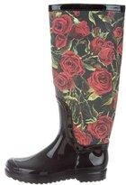 Dolce & Gabbana Rose Rain Boots