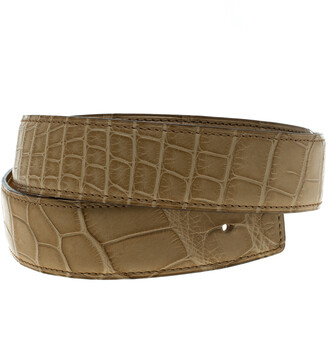 Hermes Beige Alligator Belt Strap 85 CM