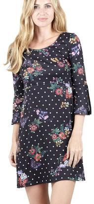 M&Co Izabel floral and polka dot shift dress