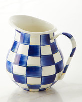 Mackenzie Childs Royal Check Pitcher