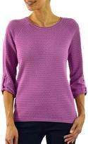 Haggar Quarter Sleeve Raglan Sweater