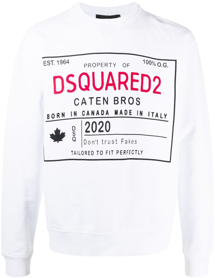 DSQUARED2 Logo Cotton Sweatshirt