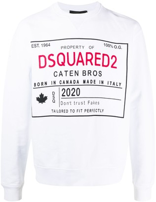DSQUARED2 Logo Cotton Sweatshirt
