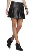 BCBGMAXAZRIA Shane Pleated Pleather Miniskirt