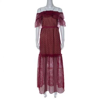 Self-Portrait Red Cotton Dresses