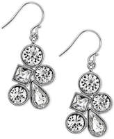 Nina Silver-Tone Mixed Crystal Cluster Earrings
