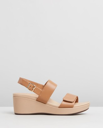 Vionic Women's Brown Sandals - Lovell Wedge Sandals - Size One Size, 8 at The Iconic