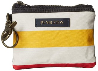 Pendleton Canopy Canvas ID Pouch Key Ring (Glacier Stripe) Travel Pouch
