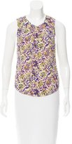 Veronica Beard Silk Floral Print Top