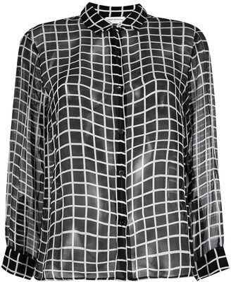 Dries Van Noten Pre-Owned 1990s Sheer Checked Shirt