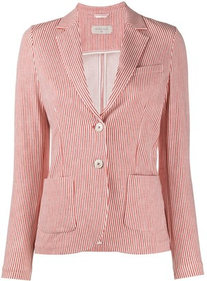 Circolo 1901 Americana single breasted pinstriped blazer