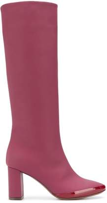 L'Autre Chose rubberised pull on calf height boots