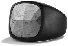 David Yurman Men's Signet Ring with Meteorite