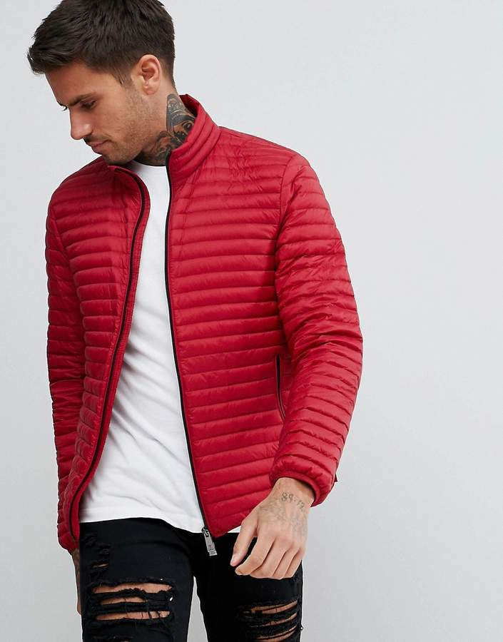 Emporio Armani Down Padded Jacket In Red