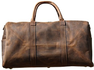 Touri Genuine Leather Gym Bag with shoes strorage In worn Brown