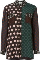 Lanvin contrast panel shirt