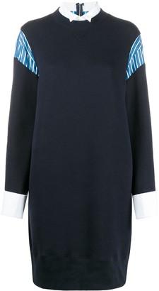 Sacai Shirt-Paneling Midi Dress