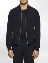 Calvin Klein Platinum Slim Fit Mesh Piping Zip-Front Jacket